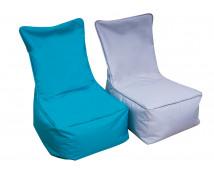 [Textilní sedací vak - pro dospělé - šedý]