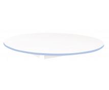 [Stolová deska BÍLÁ - kruh 125 - modrá]