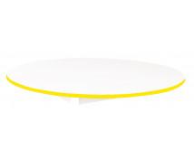 [Stolová deska BÍLÁ - kruh 125 - žlutá]