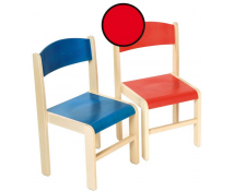 [Dřevěná židle JAVOR - výška sedu 38 cm - červená]