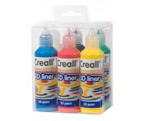 [3D tvorivé farby 6x80 ml]