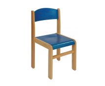 [Stolička drev. BUK modrá 26 cm]