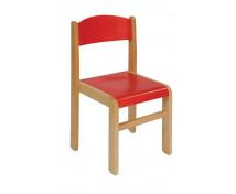 [Drevená stolička BUK - červená - 31 cm]