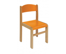 [Stolička drev. BUK oranžová 30 cm]
