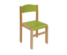 [Drevená stolička BUK - zelená - 31 cm]