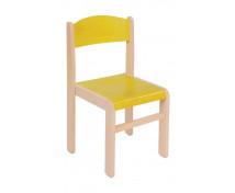 [Dřevěná židle JAVOR žlutá 26 cm]
