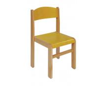 [Drevená stolička BUK - žltá - 35 cm]