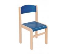 [Drevená stolička JAVOR modrá 31 cm]
