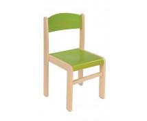 [Dřevěná židle JAVOR zelená 35 cm]