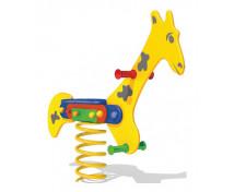 [Hojdačky na pružine z HDPE - žirafa]