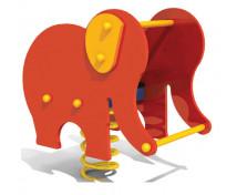 [Hojdačky na pružine z HDPE s lavičkou - slon]