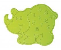 [Nástenná dekorácia Nosorožec s číslami]
