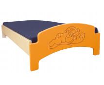 [Farebné ležadlo - spiaci medvedík - oranžová]