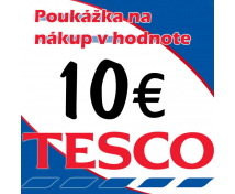 [TESCO poukážky v hodnote 10 €]
