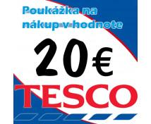 [TESCO poukážky v hodnote 20 €]