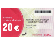 [TESCO poukážka 20 eur]