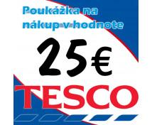 [TESCO poukážky v hodnote 25 €]