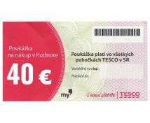 [TESCO poukážka 40 eur]