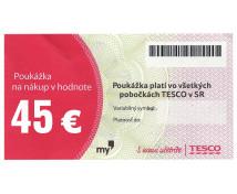 [TESCO poukážka 45 eur]