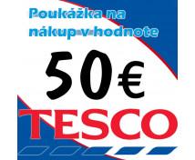 [TESCO poukážky v hodnote 50 €]