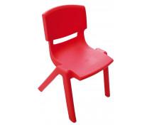 [Stolička plast. 38 cm červená]