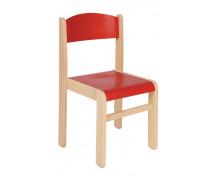 [Dřevěná židle JAVOR 38 cm červená]