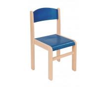 [Dřevěná židle JAVOR 38 cm modrá]