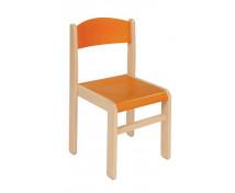 [Dřevěná židle JAVOR 38 cm oranžová]