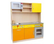[Elegantná Kuchynka MAXI - Oranžovo-žltá]