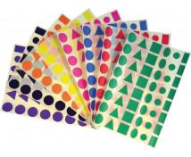 [Nálepky - Farebné tvary (1152 ks)]