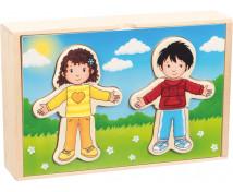 [Obliekacie puzzle  Chlapec a dievča]