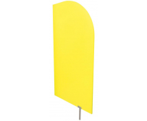 [Dělící stěna žlutá 54 x 101 cm]