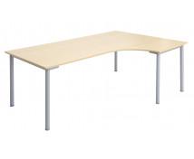 [Kancelářský stůl s kovovými nohami, rohový, Pravý]