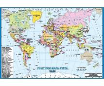 [Nástěnný obraz XL-Politická mapa světa CZ]