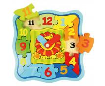 [Hodiny puzzle se lvem]