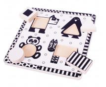 [Černo - bílé puzzle - Zvířátka 1]