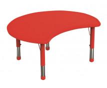 [Plastová stolová deska - Kruh výsek - červená]