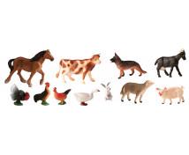[Plastová zvířátka-Na farmě 11 ks]
