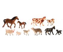 [Plastová zvířátka-Na farmě s mláďaty 10ks  01/19]