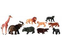 [Plastová zvířátka-Afrika 9 ks]