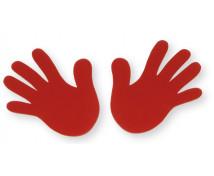 [Červená dlaň - 2 ks]