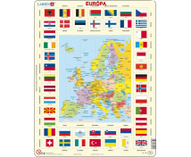 [Glóbus v puzzle Evropa - slovenská verze]