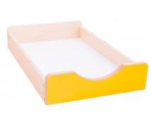 [Dřevěný úložný box Numeric - Malý - žlutý]