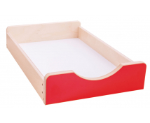 [Dřevěný úložný box Numeric - Malý-červený]
