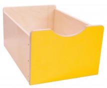 [Dřevěný úložný box Numeric - Velký - žlutý]