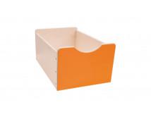 [Dřevěný úložný box Numeric - Veľký-oranžový]