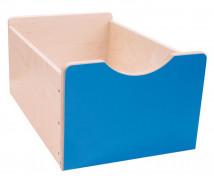 [Dřevěný úložný box Numeric- Veľký-modrý]