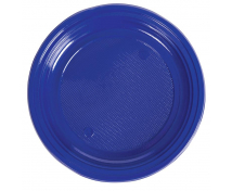 [Plastové talíře - modré - 10 ks]