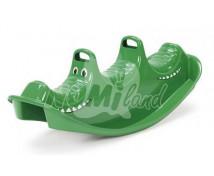 [Houpačka třímístní - zelený krokodýl]