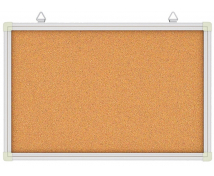[Korková tabule v hliníkovém rámu 120 x 90 cm]